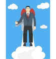 Flying Businessman Cartoon Graphic Design for vector image