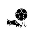 football black icon sign on isolated vector image
