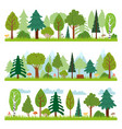 forest landscapes woodland nature trees panorama vector image vector image