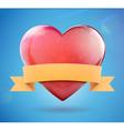 glossy heart shape vector image vector image