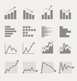 Graphic business ratings and charts vector image vector image