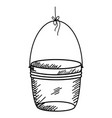hanging bucket drawing icon vector image