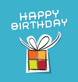 Happy Birthday to You Theme on Blue Background vector image vector image
