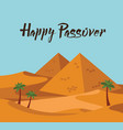 happy passover jewish holiday card template with vector image vector image