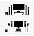 Home theater vector image vector image