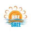 hot summer sale banner vector image vector image