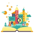 Imagination Concept Open Book vector image