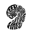 keep calm and windsurf hard custom hand lettering vector image vector image