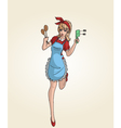 kitchen pinup vector image