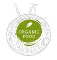 label tomato fresh natural eco food hand drawn vector image vector image