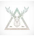 Line Style Abstract Deer Face vector image
