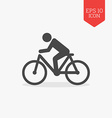 Man rides a bicycle icon Flat design gray color vector image vector image