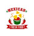mexican food restaurant menu icon vector image vector image