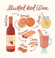 mulled wine recipe christmas vector image