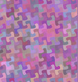 Multicolor curved puzzle pattern background design vector image vector image