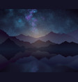 nature night background with starry sky vector image