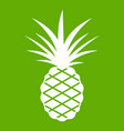 pineapple icon green vector image