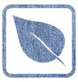 plant leaf fabric textured icon vector image