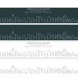 rio de janeiro single line skyline banner vector image vector image