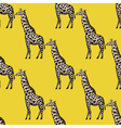 seamless background with giraffe vector image