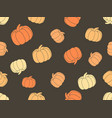 seamless pattern with pumpkins halloween vector image
