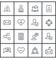 set of 16 communication icons includes vector image vector image