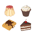 Set Of Drawn Sweets vector image vector image