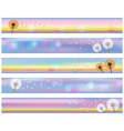 Set of horizontal floral banners with flower vector image vector image