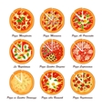 Set of italian pizza Creative vector image vector image