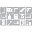 Sixteen gadgets vector image