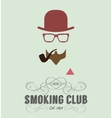 smoking club card vector image vector image