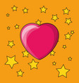 stars and heart design vector image