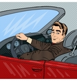 Successful Businessman in Luxury Car vector image vector image