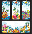 summer tags series vector image vector image