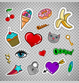 sweet quirky badges on transparent background vector image vector image