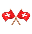 Switzerland flags icon cartoon style vector image vector image