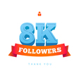 Thanks design for network friends followers vector image
