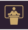 The speech icon Speak and broadcaster orator vector image