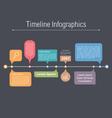 Timeline Elements vector image vector image