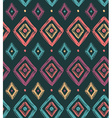 tribal seamless pattern with rhombuses Geometric vector image vector image