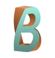 Twisted Letter B Logo Icon Design Template Element vector image