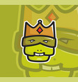 ugly king head mascot vector image vector image