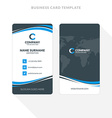 Vertical Double-sided Business Card Template Blue