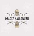 vintage style halloween headline or title vector image vector image