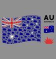 waving australia flag pattern boom explosion vector image vector image