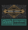 western label for whiskey or other products vector image vector image