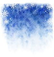 winter watercolor background Blue sky with falling vector image vector image