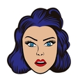 woman character pop art style vector image vector image