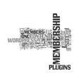 wordpress membership site plugins not just for vector image vector image