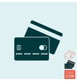Credit card icon isolated vector image